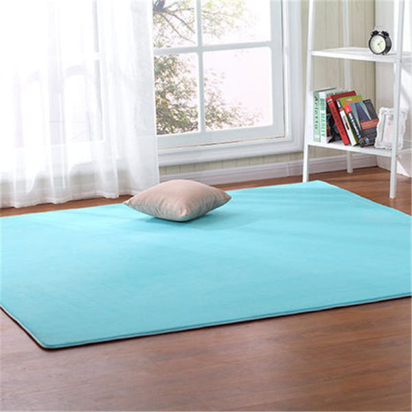 Free shipping Outdoor tent bottom pad thick coral fleece carpet tatami rug bedroom living room bay window blanket crawling mat