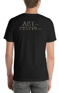 """Blood On The Podcast Floor Crypto Art T-shirt"