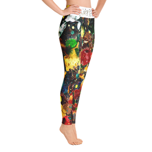 """Delicatessen"" All Over Artevo Yoga Leggins"