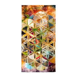 flower of life art artevo towel