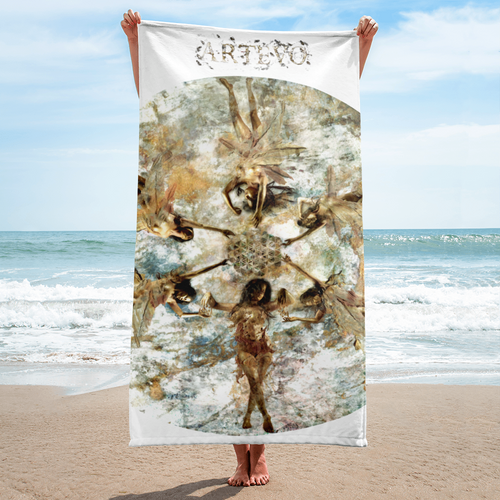 veena malik beach art towel harmony