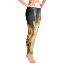 fear drop art artevo yoga leggings yoga wear