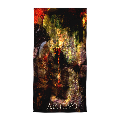 mystic flood art artevo beach towel