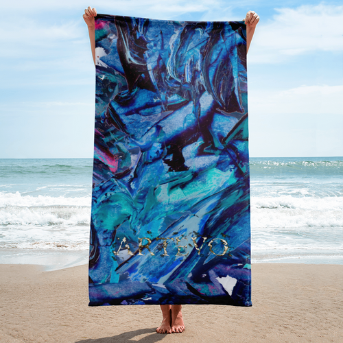 blue profile art artevo towel