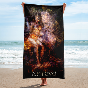 relationship single couple nature art artevo beach towel