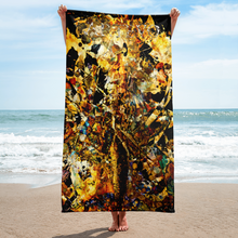 golden flow egyptian art artevo towel beach