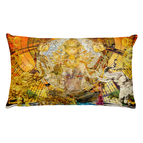Lakshmi goddess art pillow