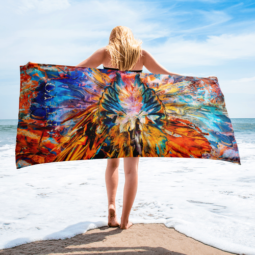 remembering art beach towel