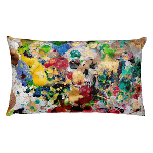 skull bones color blast death pillow