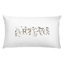 yin yang flower art pillow