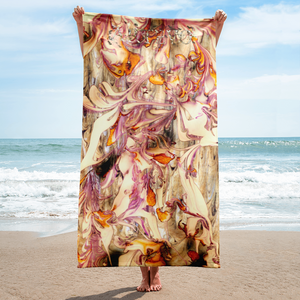yin yang art artevo beach towel