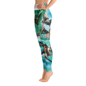 """Liquid"" All Over Artevo Yoga Leggins"