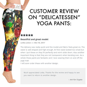 """Beginning"" All Over Artevo Yoga Leggins"