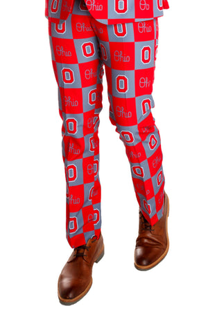 checkered ohio gameday pants