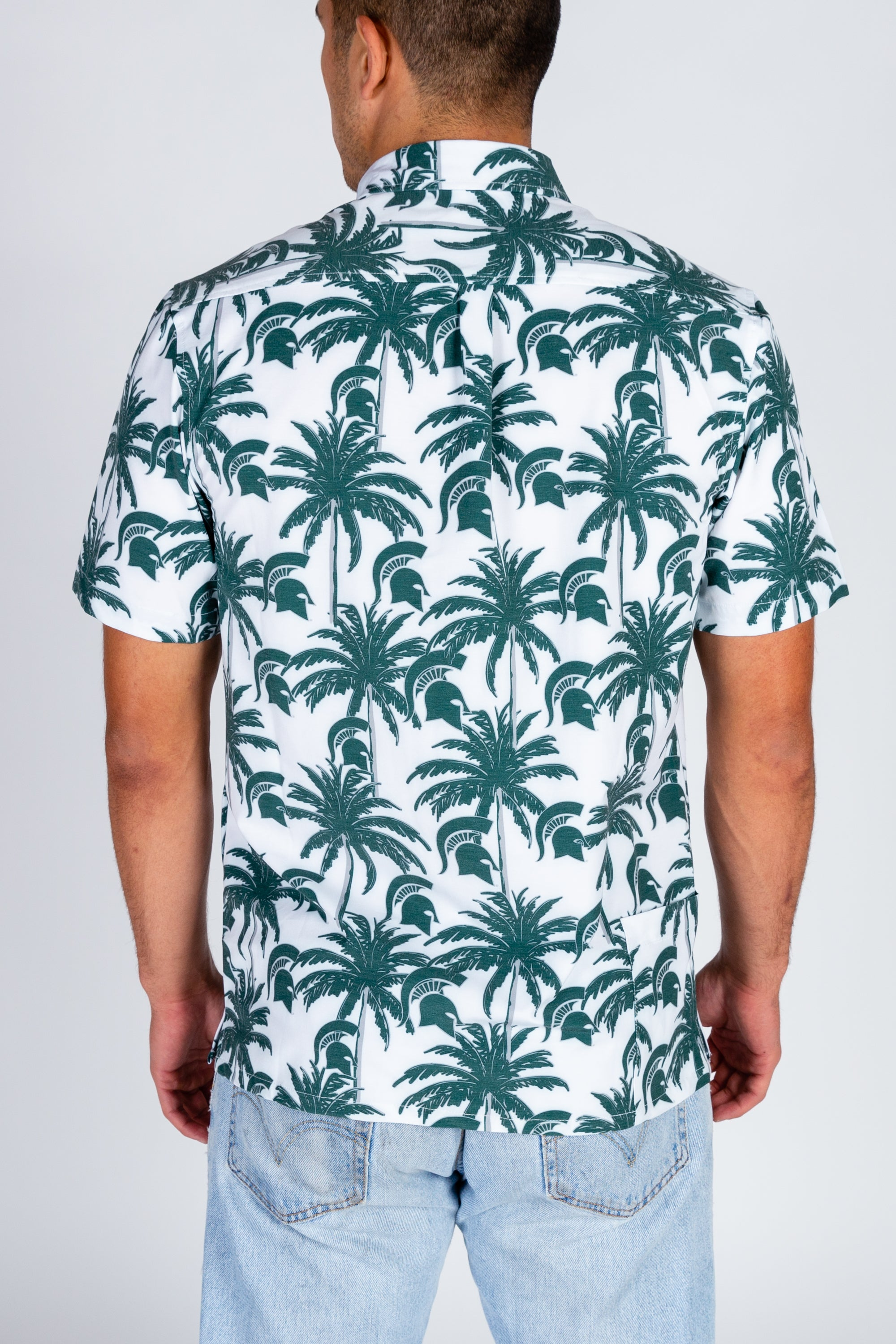 MSU Pride Palm Tree Print Shirt