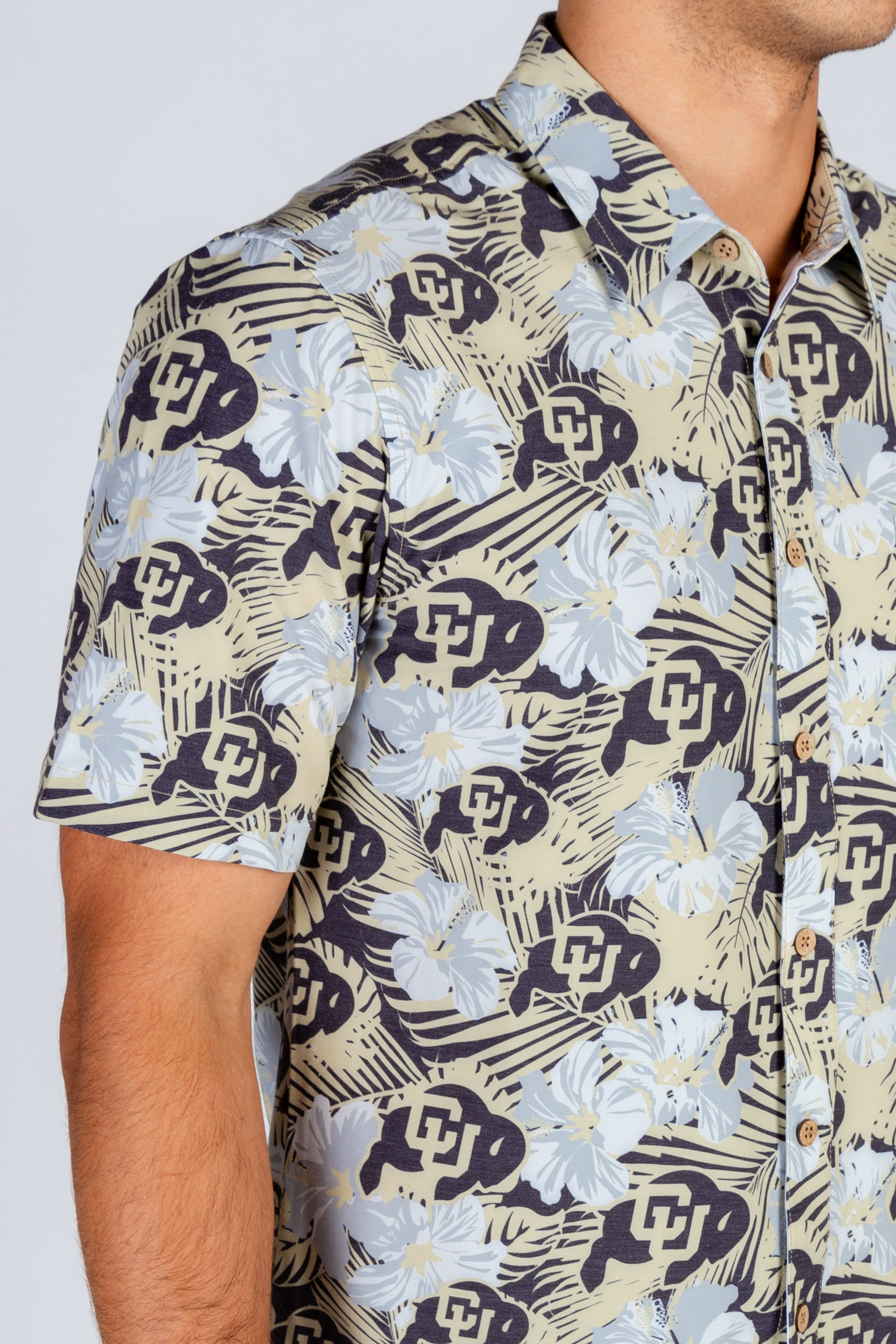 University of Colorado Button Up Hawaiian