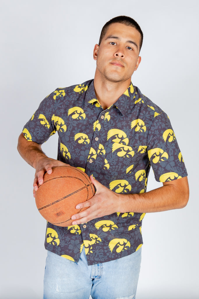 Coralville Crusher University of Iowa Hawaiian Shirt