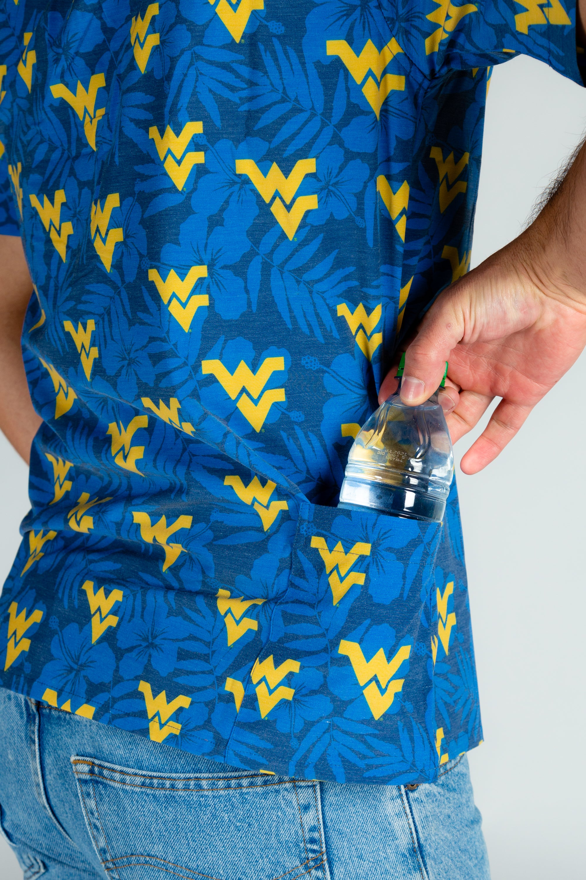 WVU Short Sleeve Button Down