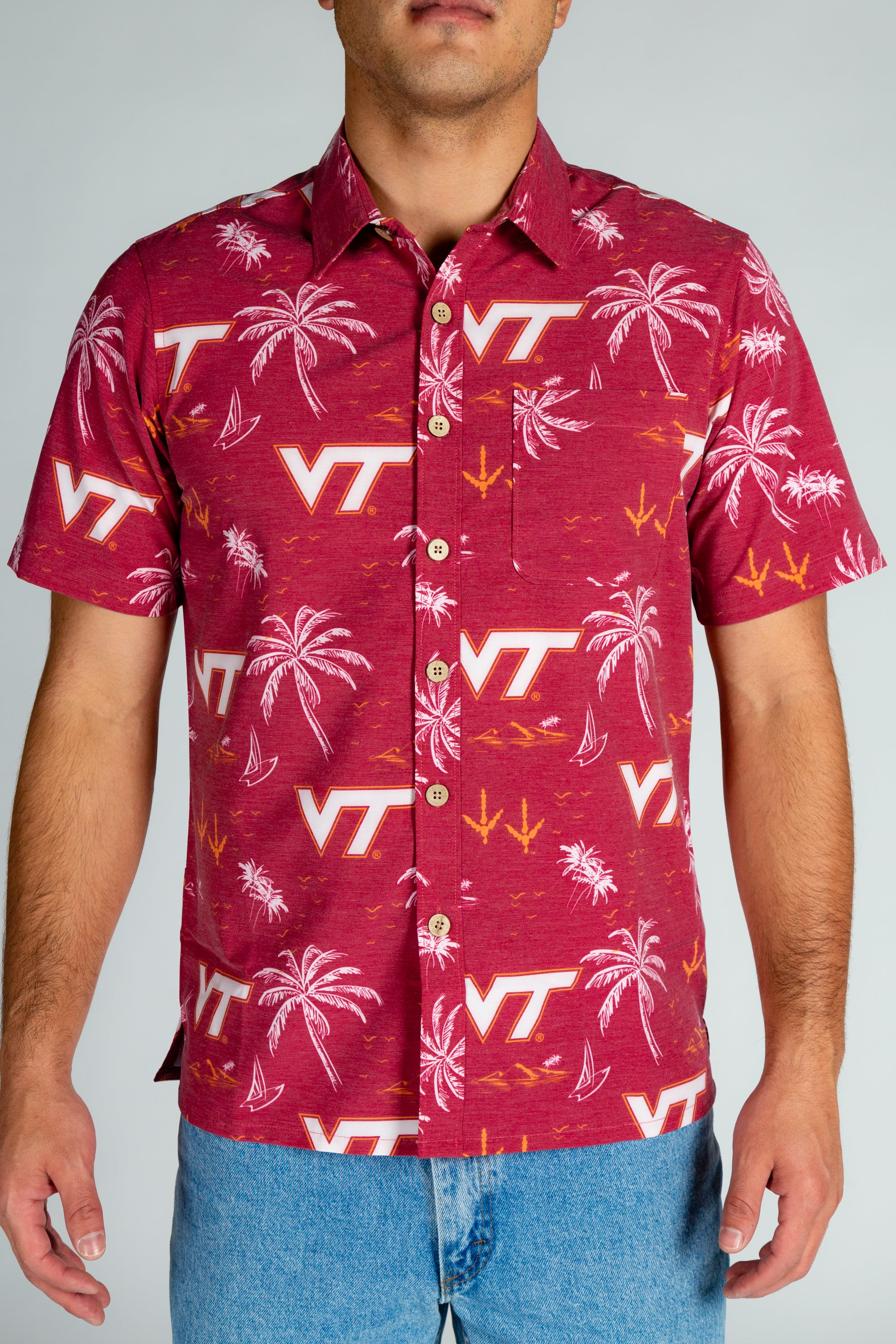 VT Men's Hawaiian Shirt