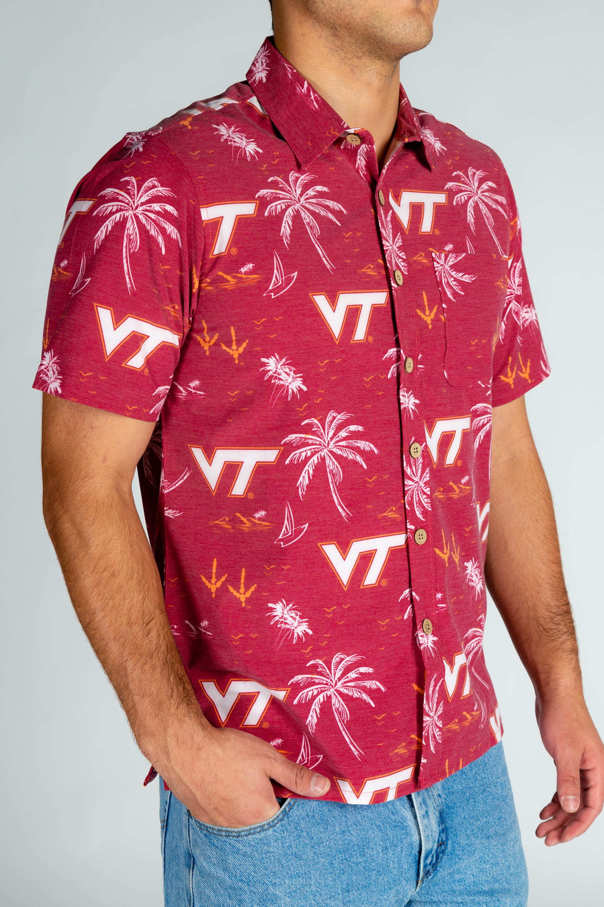 Men's VT Short Sleeve Button Down