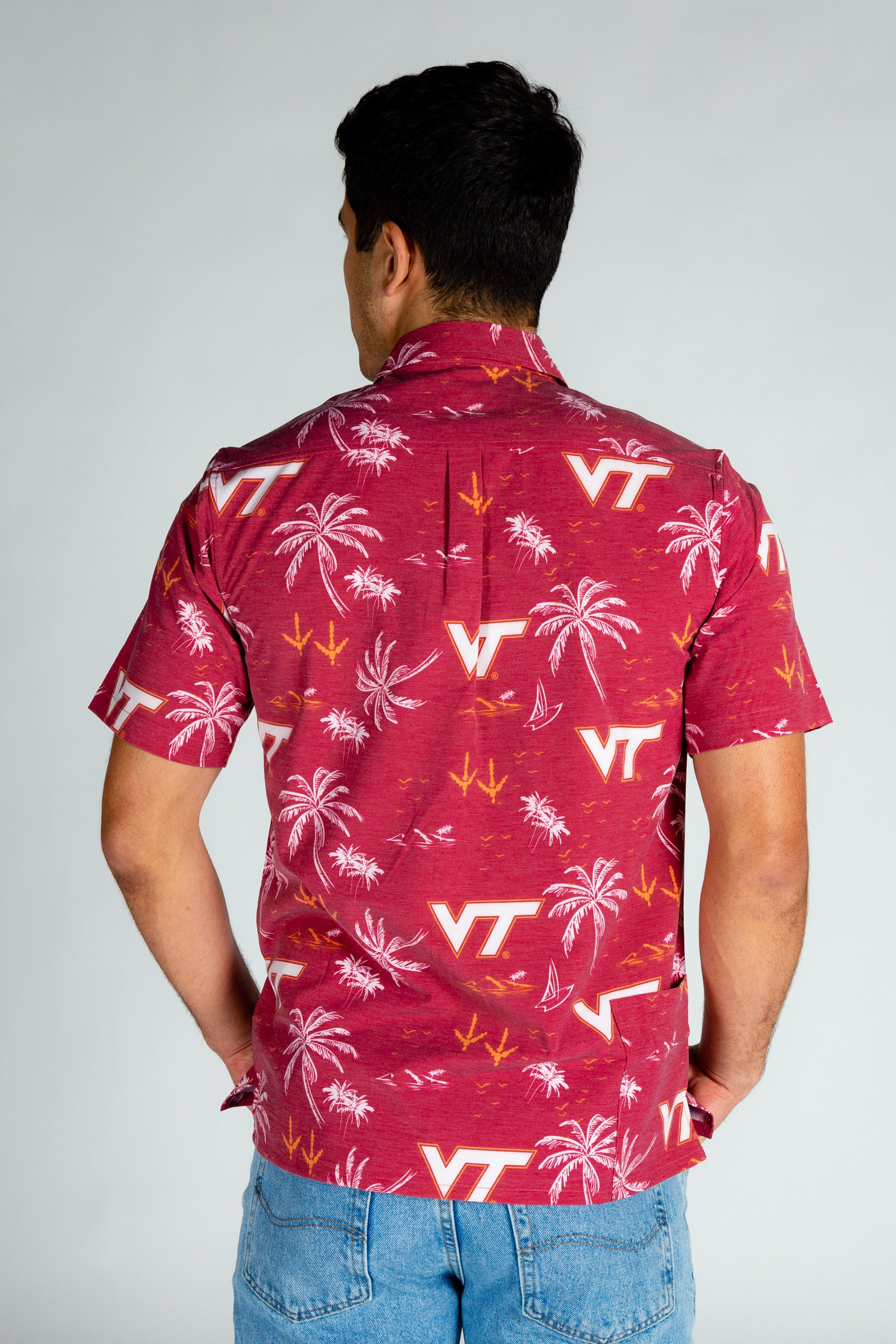 Men's VT Game Day Short Sleeve Button Down