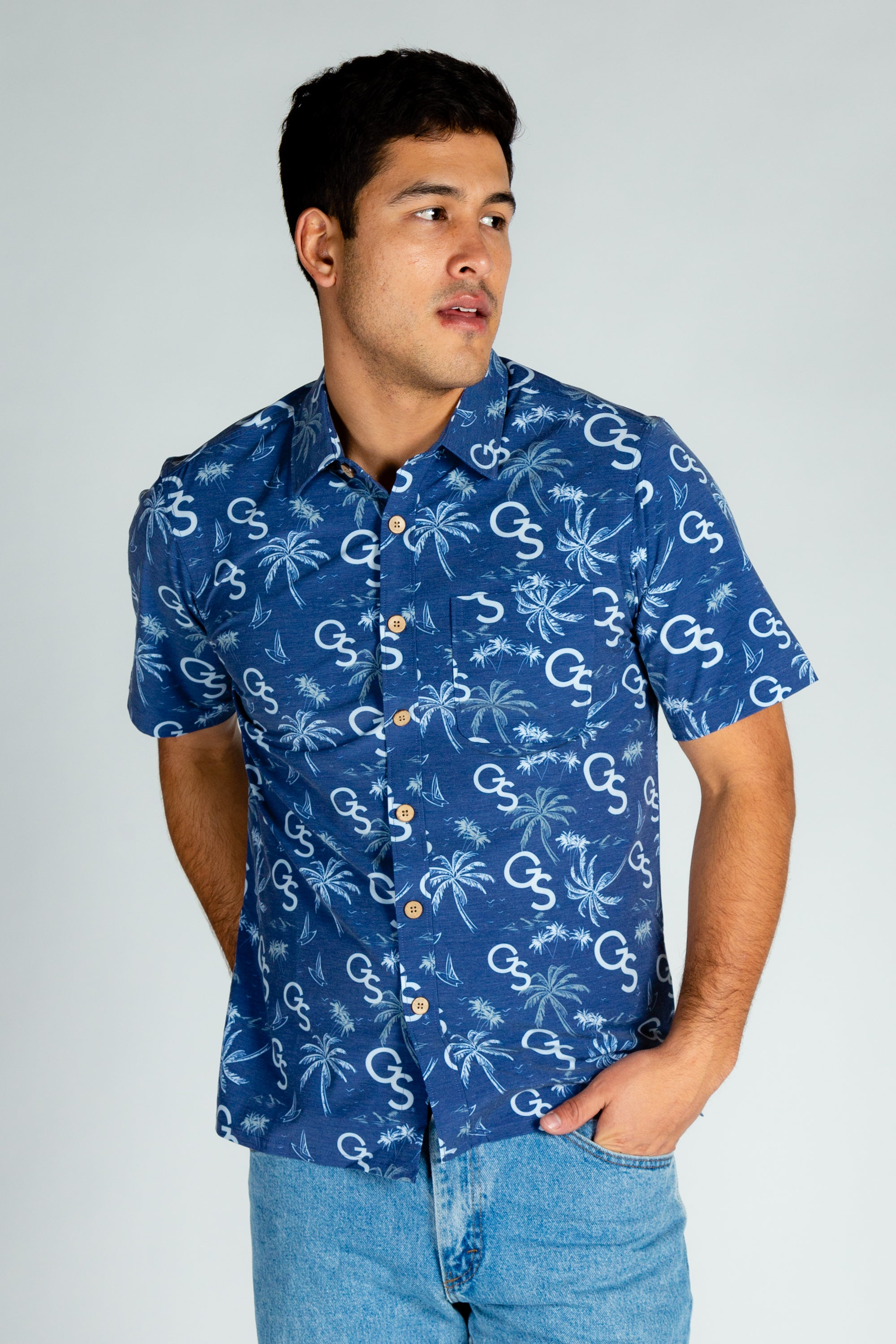 Georgia Southern University Men's Short Sleeve Hawaiian