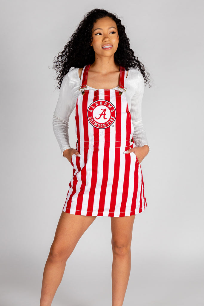 The Tide Striper Skirtall | Alabama Crimson Tide Overall Dress