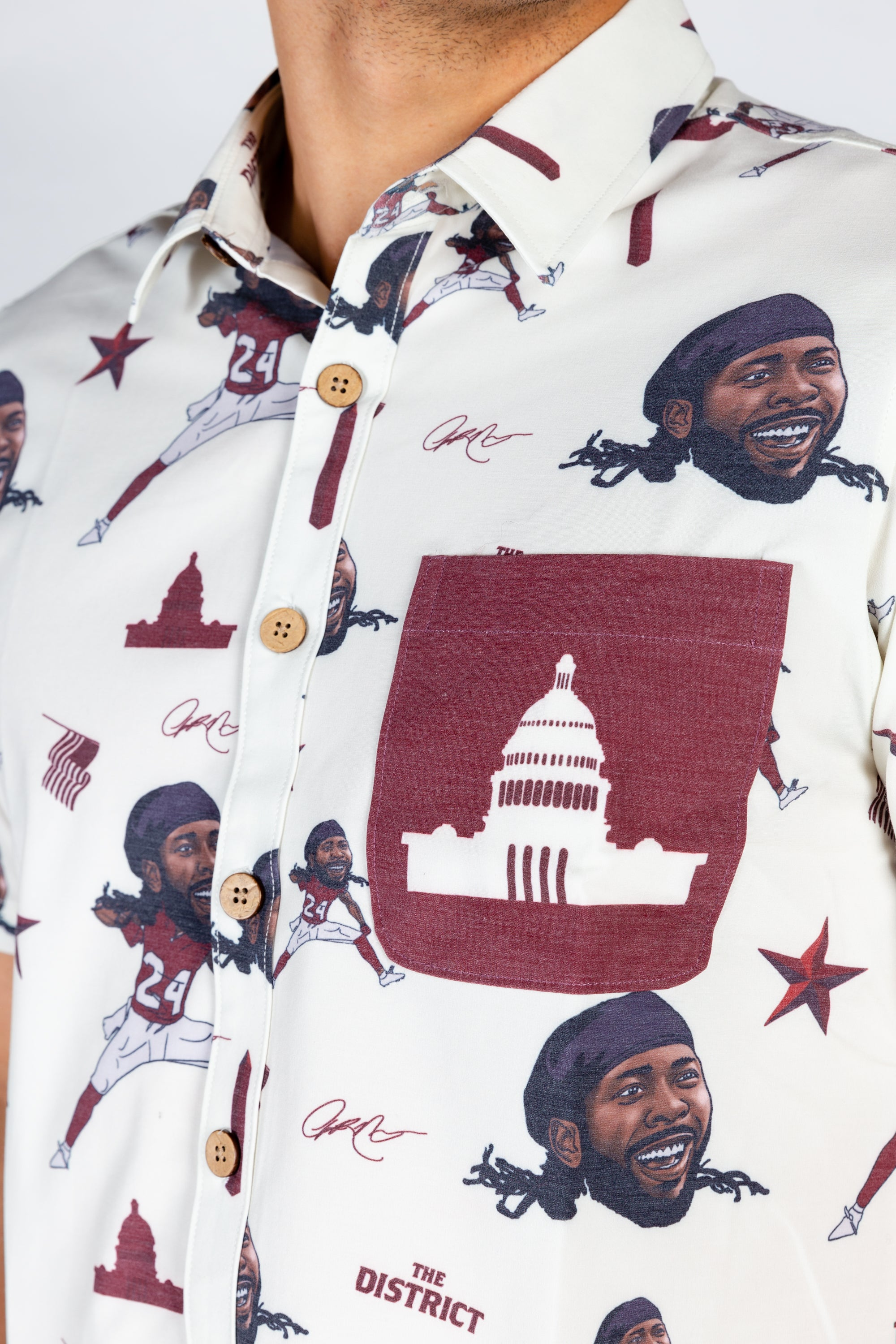 Josh Norman | White NFLPA Hawaiian Shirt