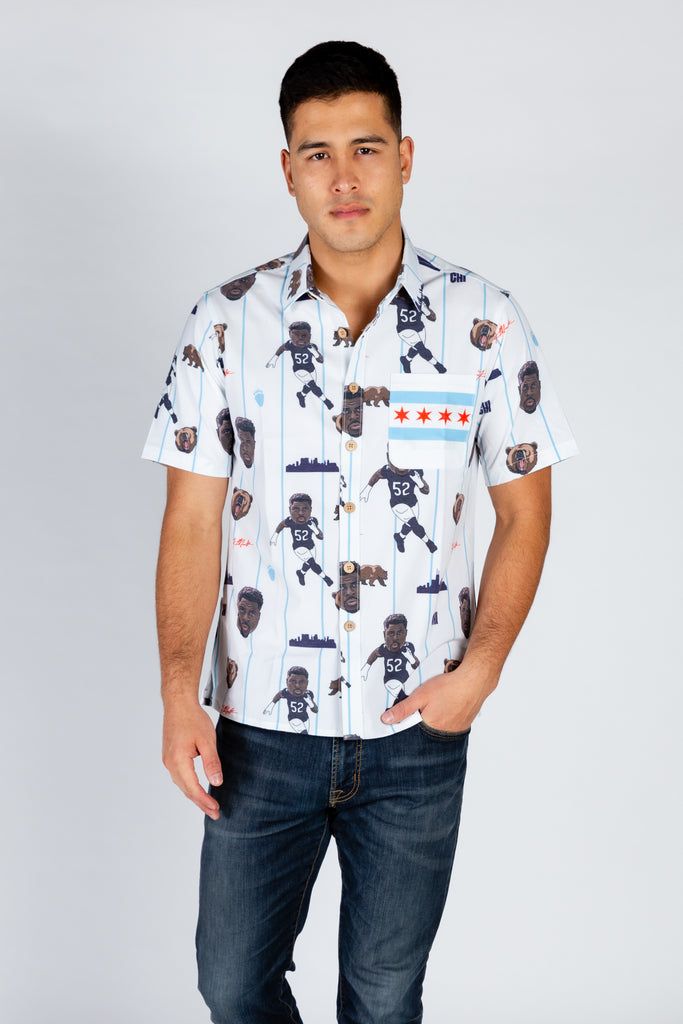 Khalil Mack | White NFLPA Hawaiian Shirt