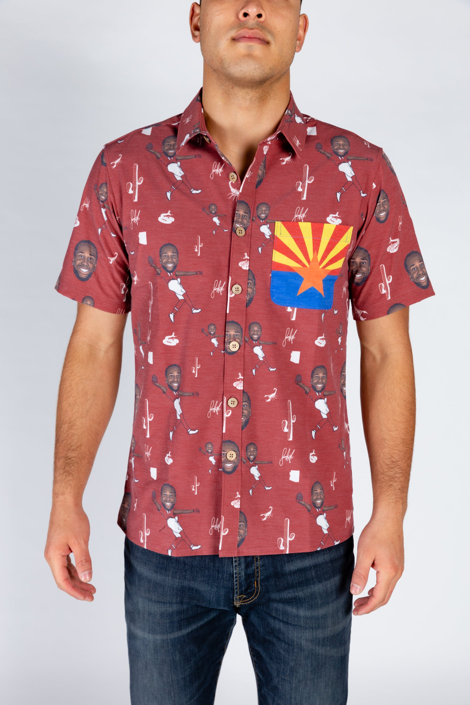 The Larry Fitzgerald | Red Hawaiian Shirt