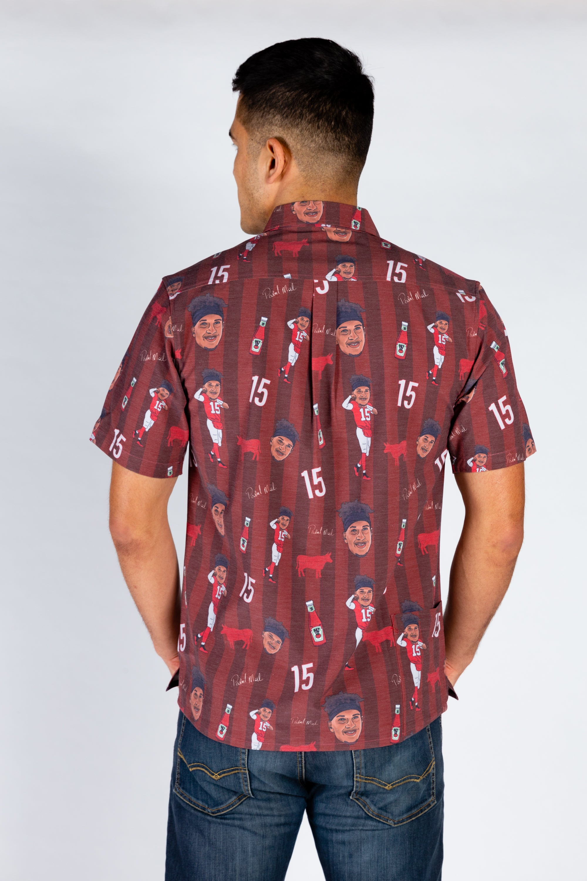 The Patrick Mahomes | Striped Hawaiian Shirt