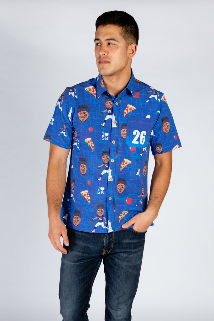 Saquon Barkley | NFLPA Blue Hawaiian Shirt