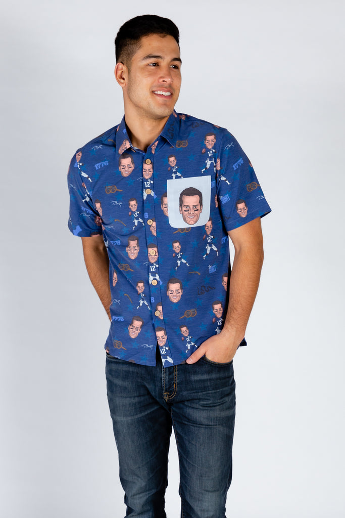 Tom Brady | Blue NFLPA Hawaiian Shirt
