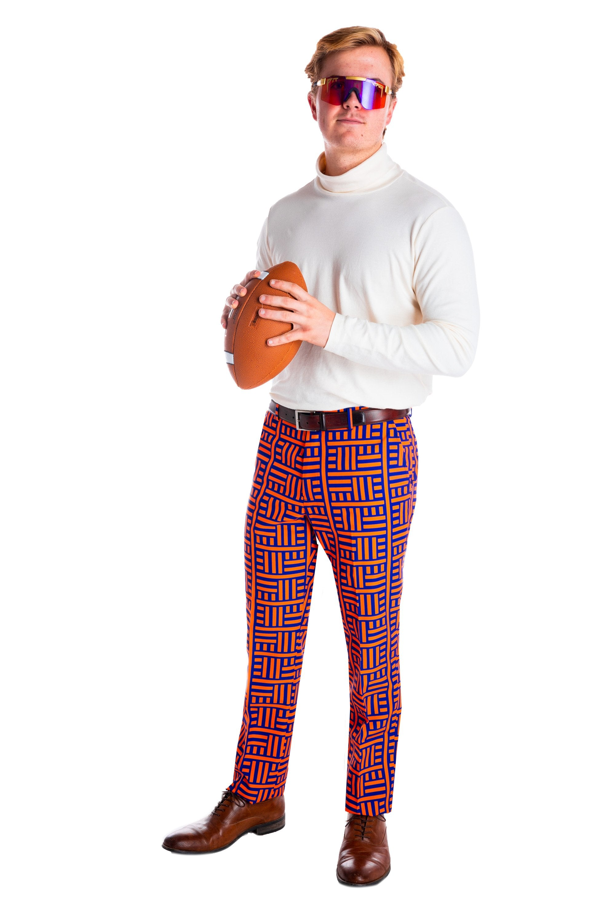 Maze print football dress pants for guys