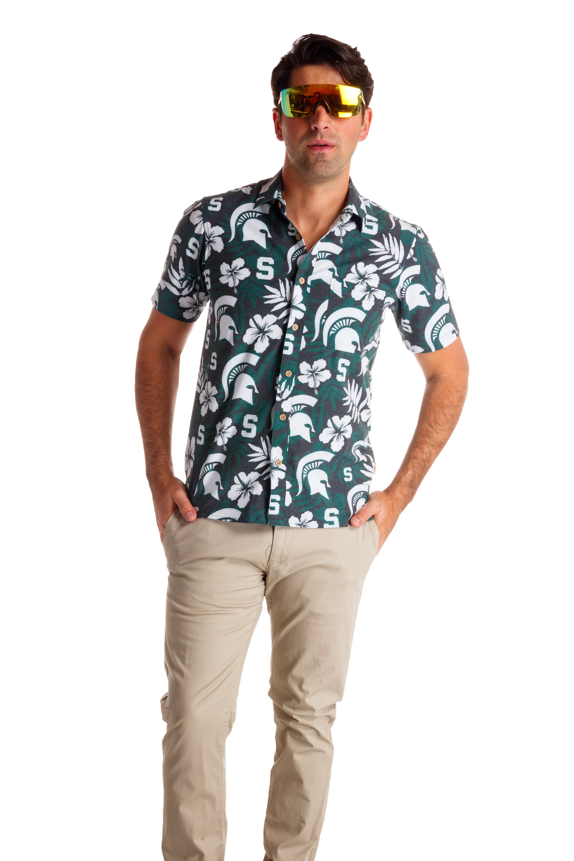 The Spartan Sizzle | Michigan State University Spartan Hawaiian Shirt