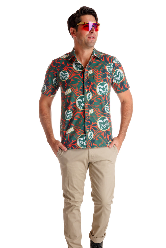 Colorado State Rams Orange Hawaiian Shirt