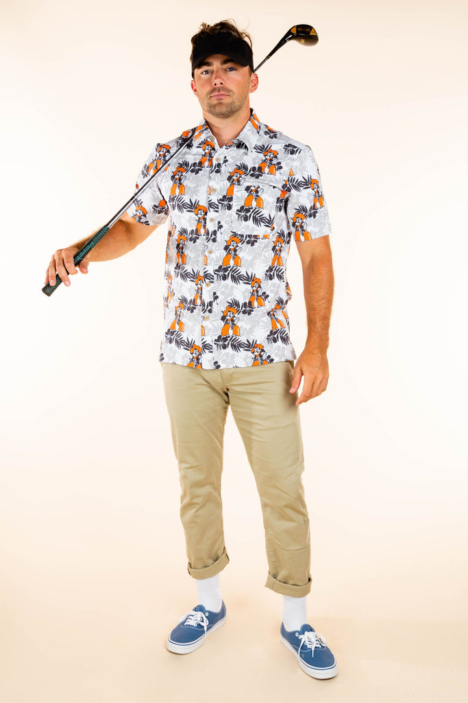 The Oklahoma State Styler | Men's Pistol Pete Hawaiian Shirt