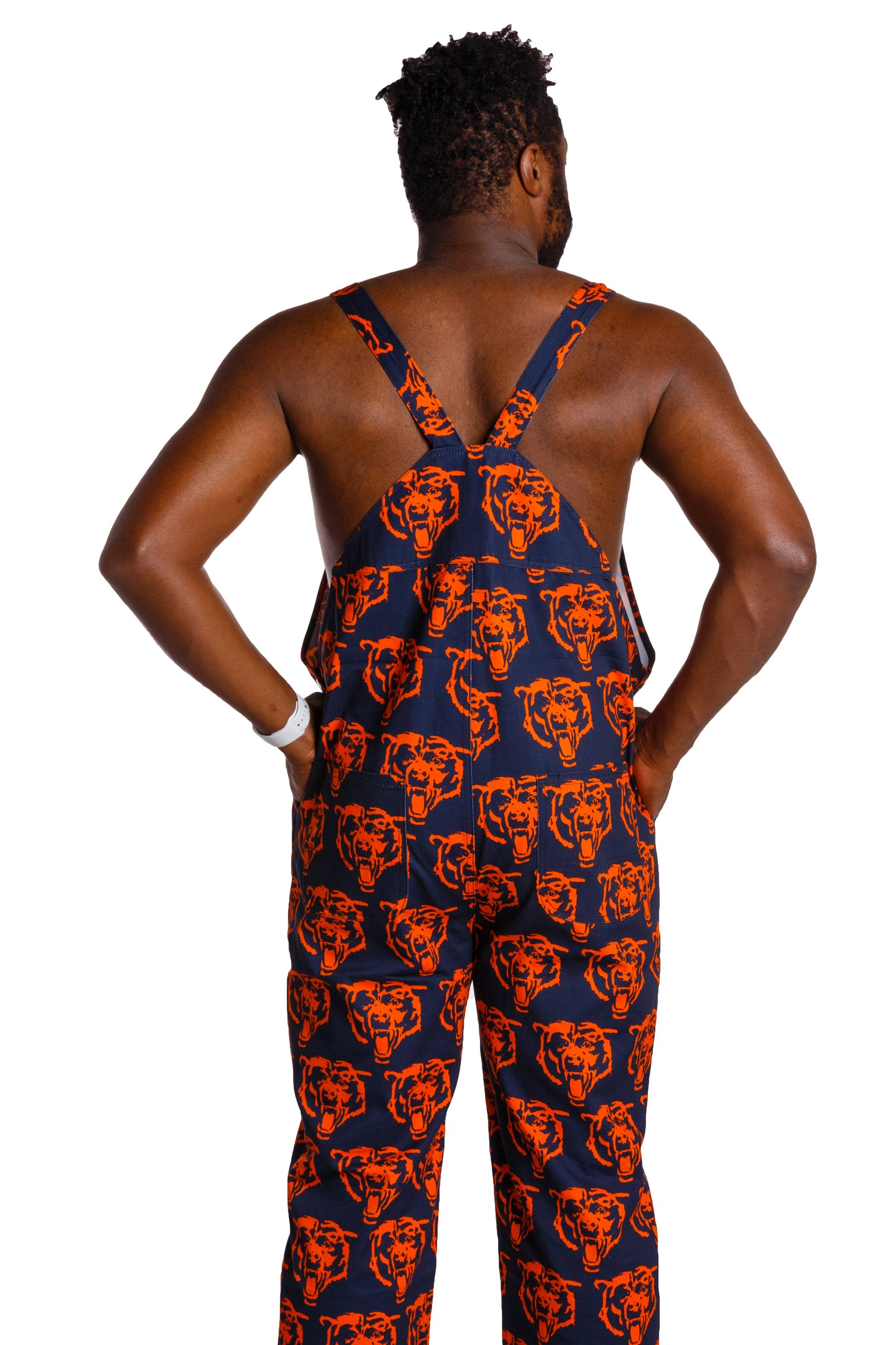 Back side men's NFL chicago bears overalls