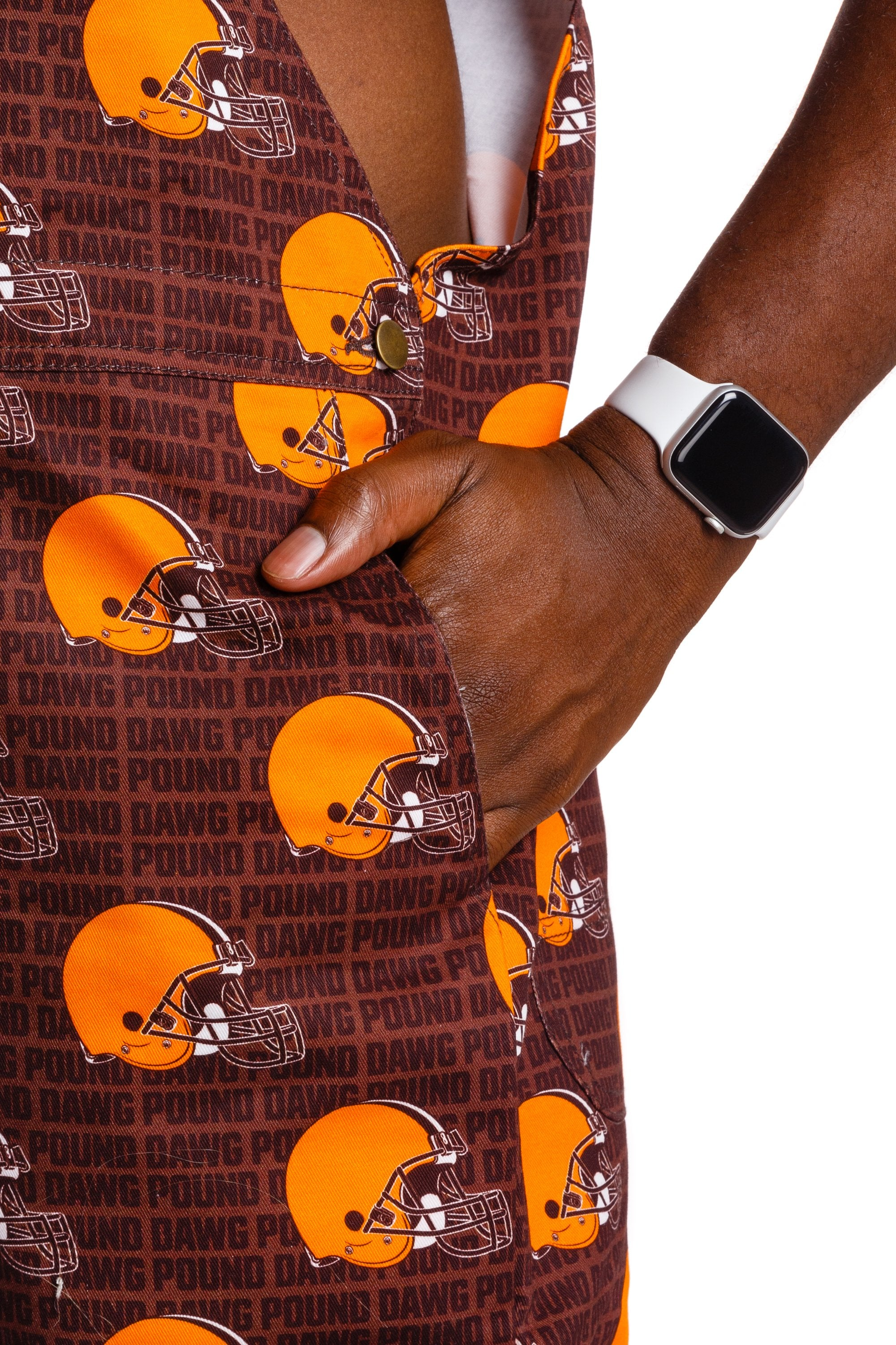 Pocket cleveland browns overalls