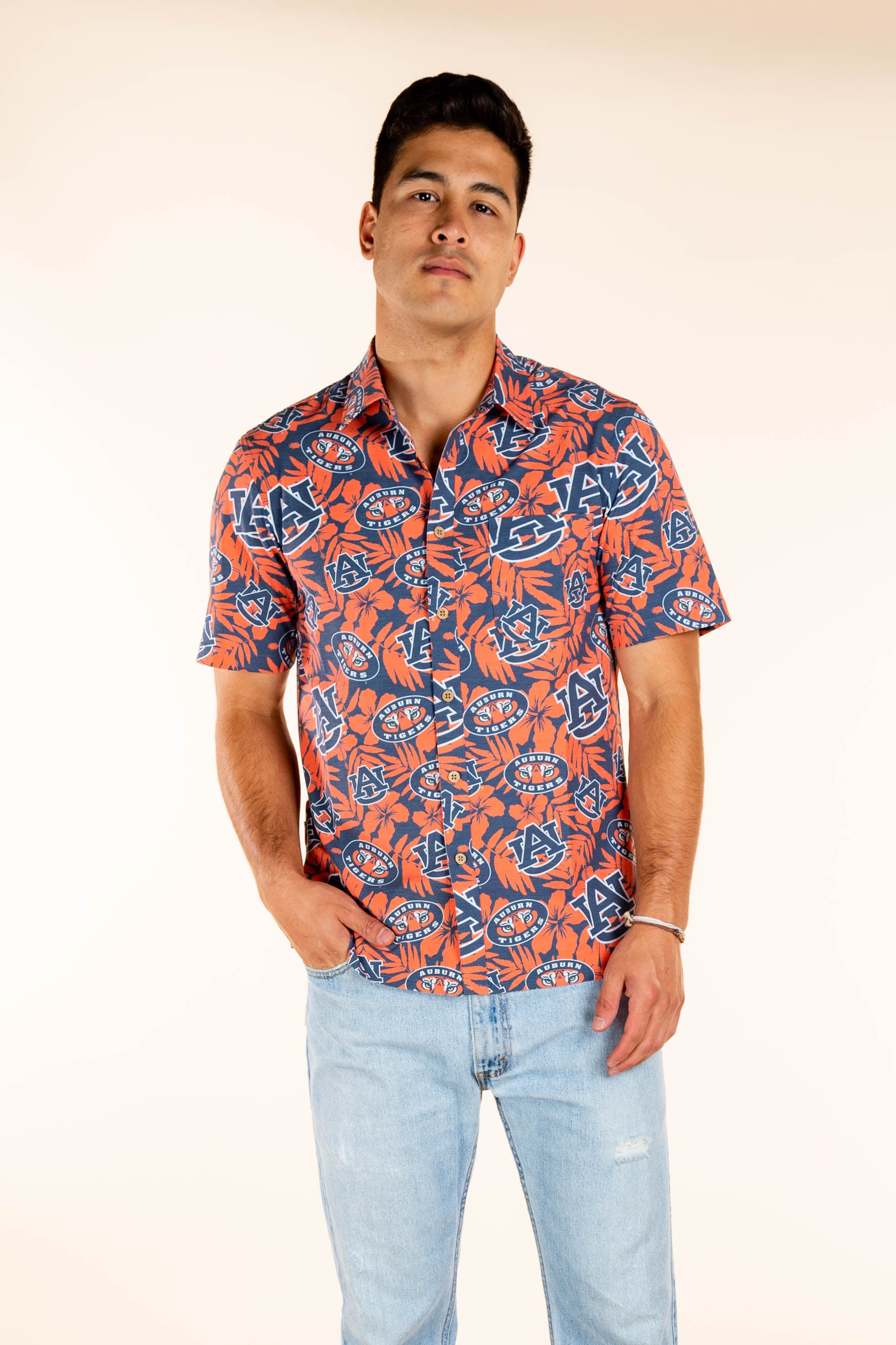 Auburn Tigers Hawaiian Tailgating Shirt
