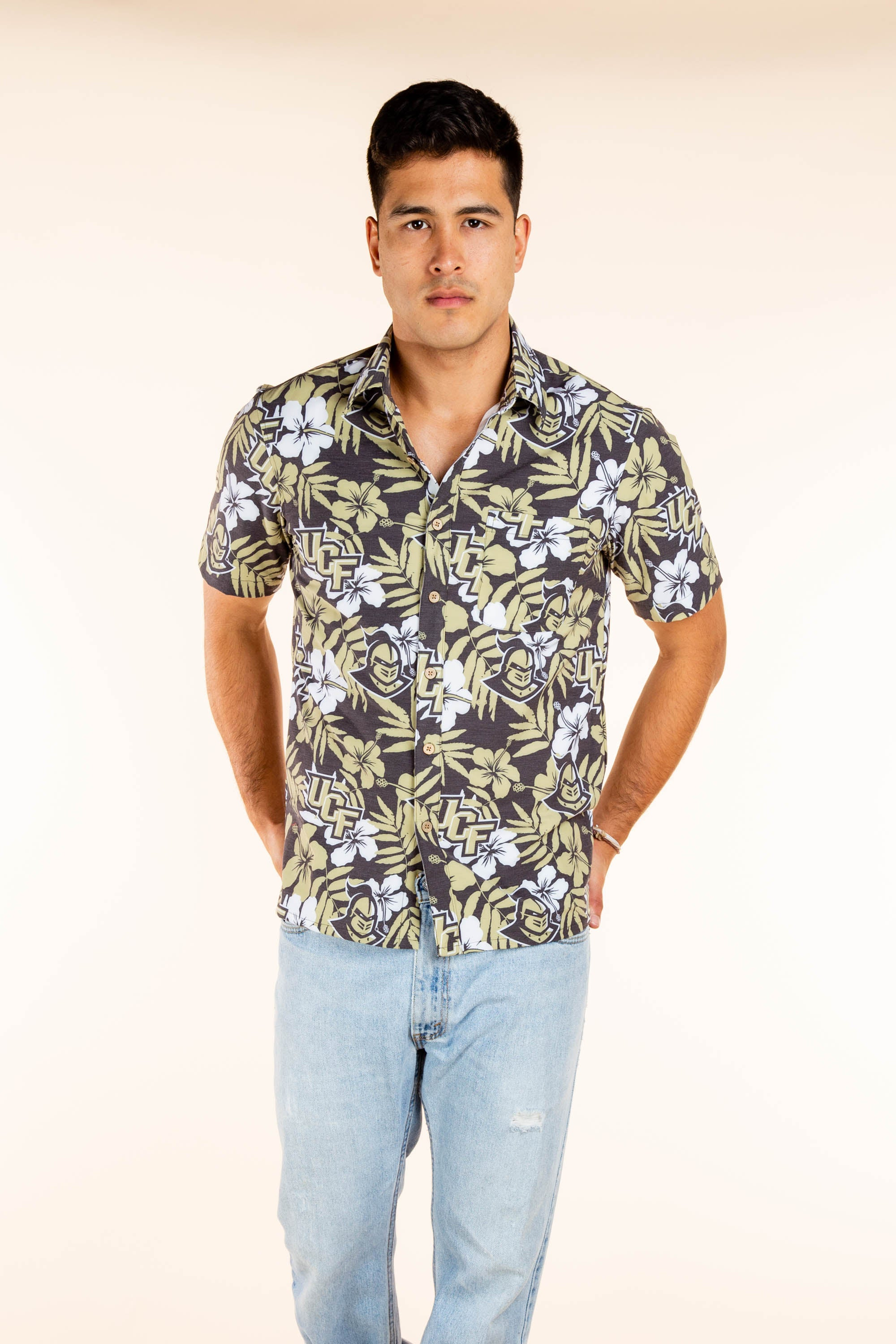 Men's UCF Button Up Party Shirt