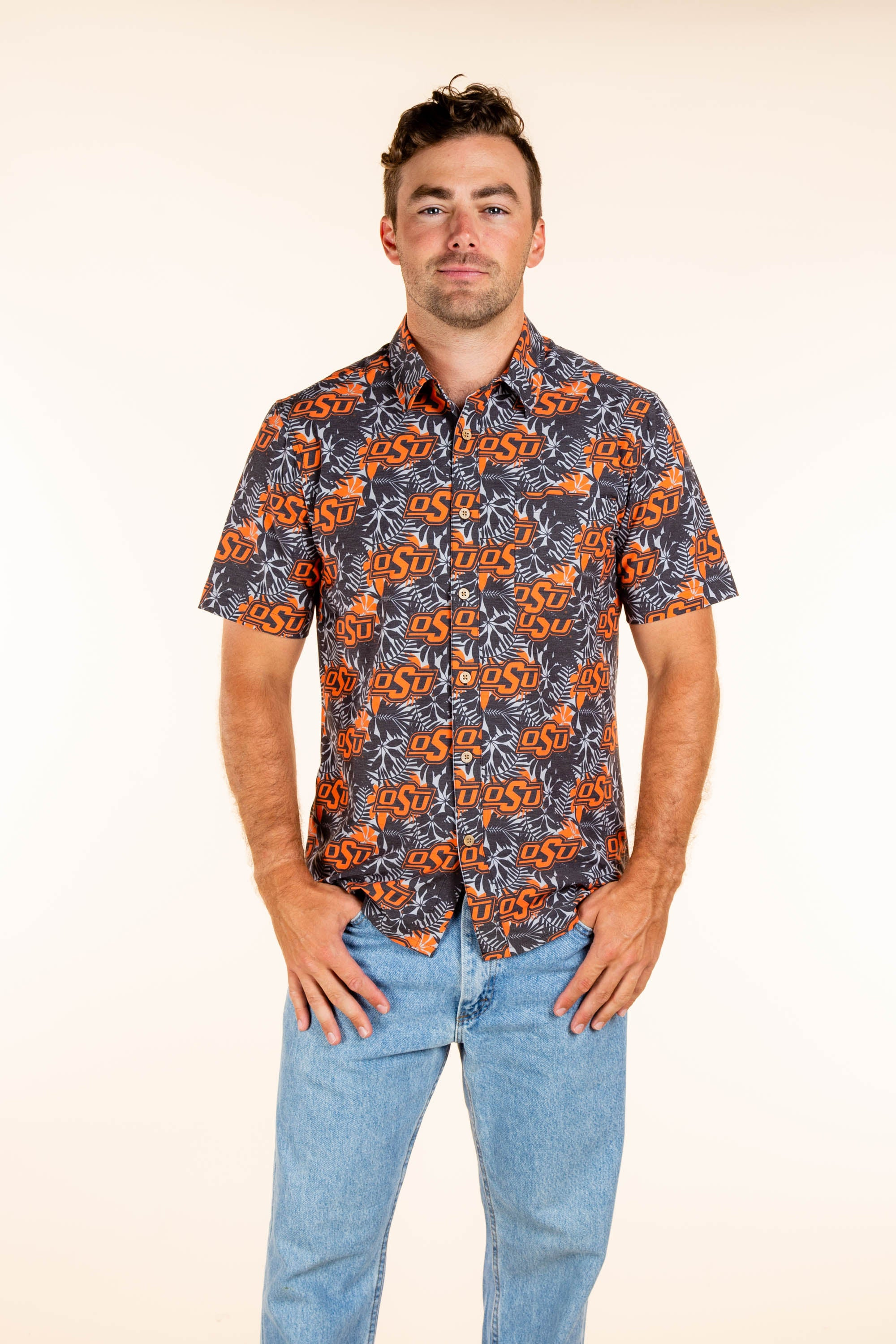 Men's Oklahoma State button up Party shirt