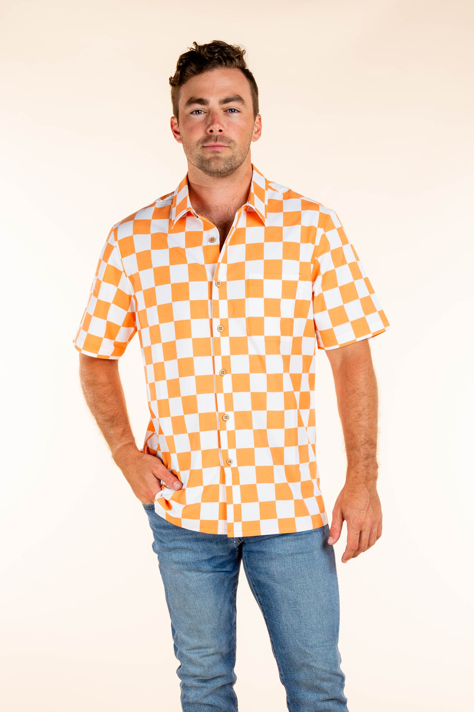 University of Tennessee Orange Checkered Tailgating Shirt