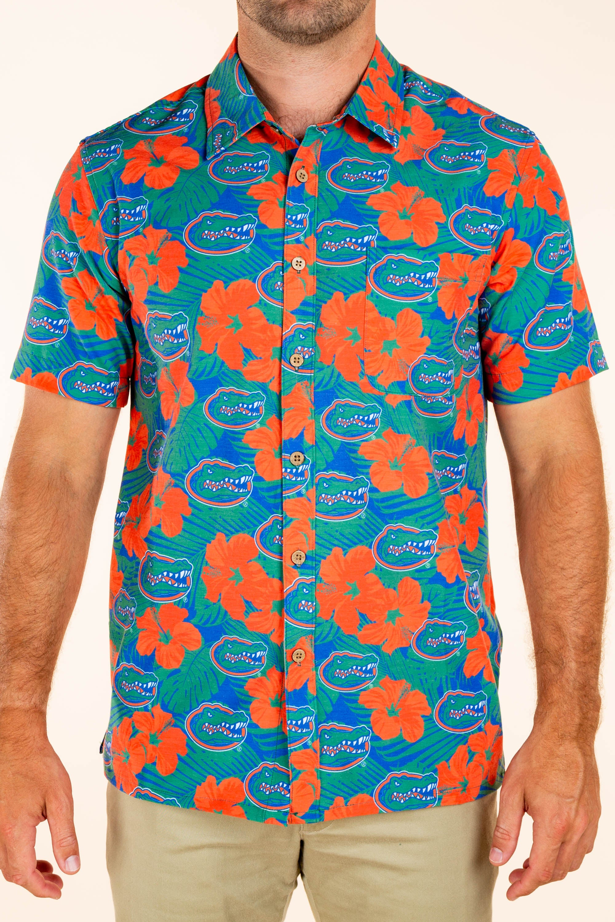 University of Florida Button Up Party Shirt