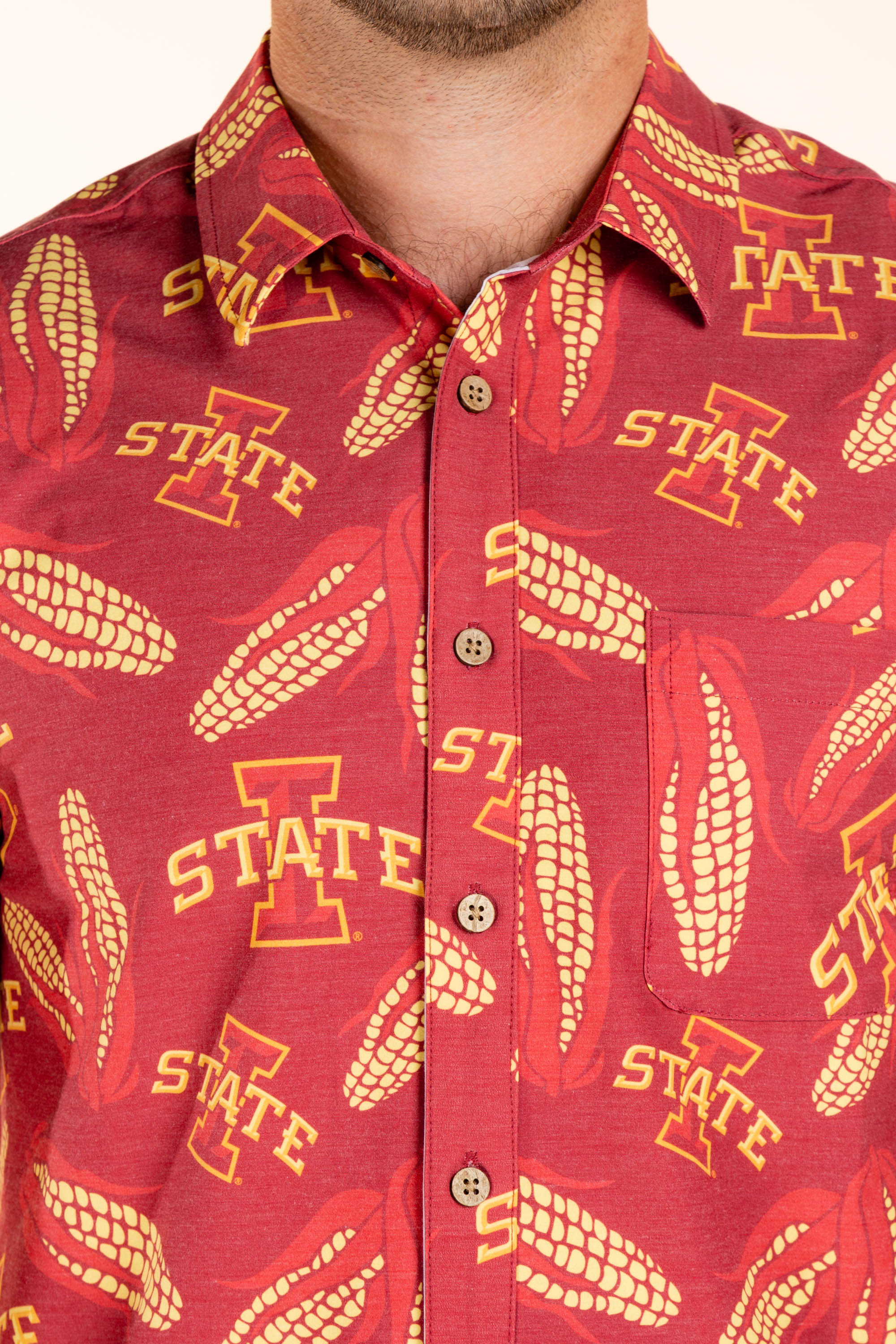 Iowa State Button Up Corn Shirt