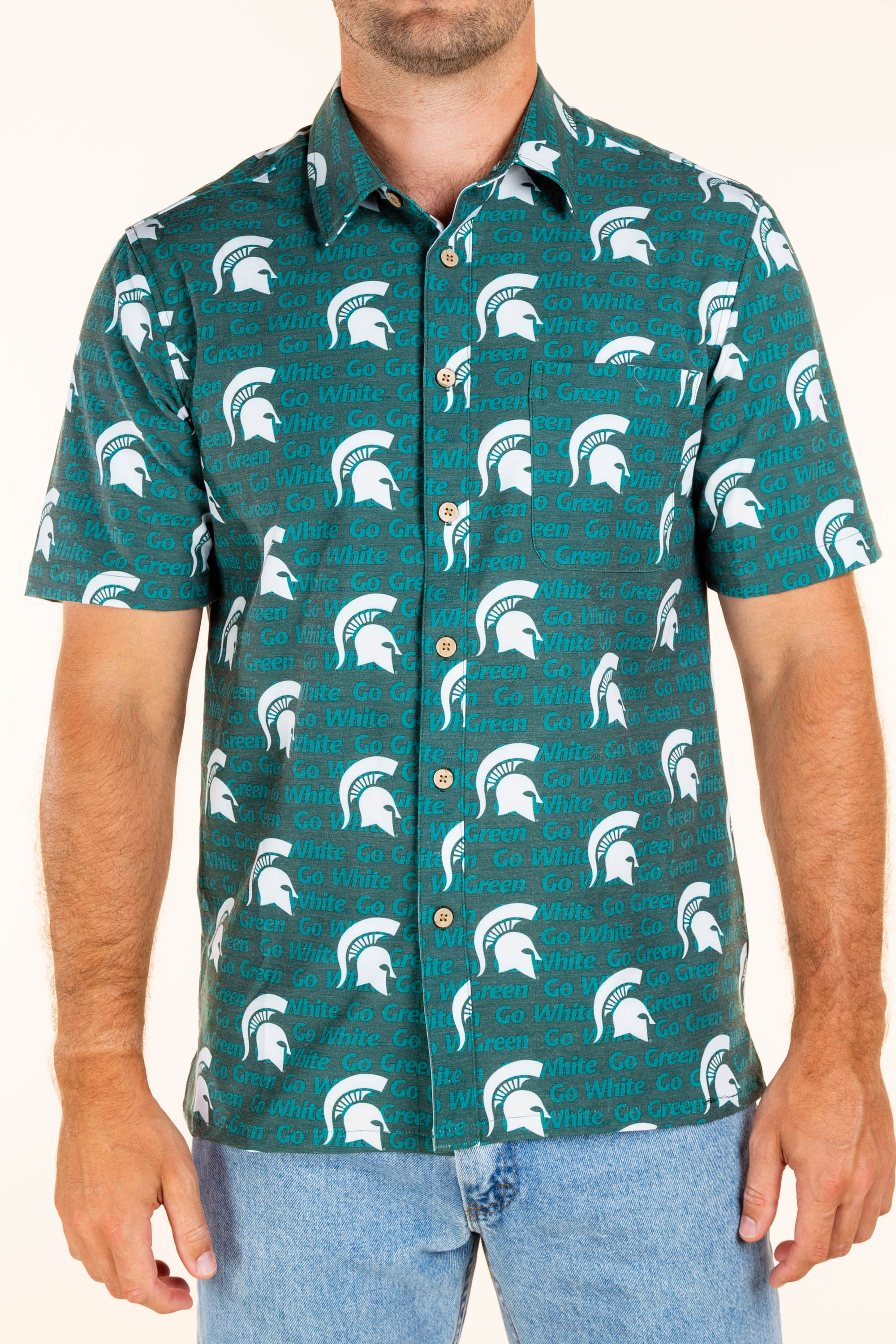 Michigan State Button Up Game Day Shirt