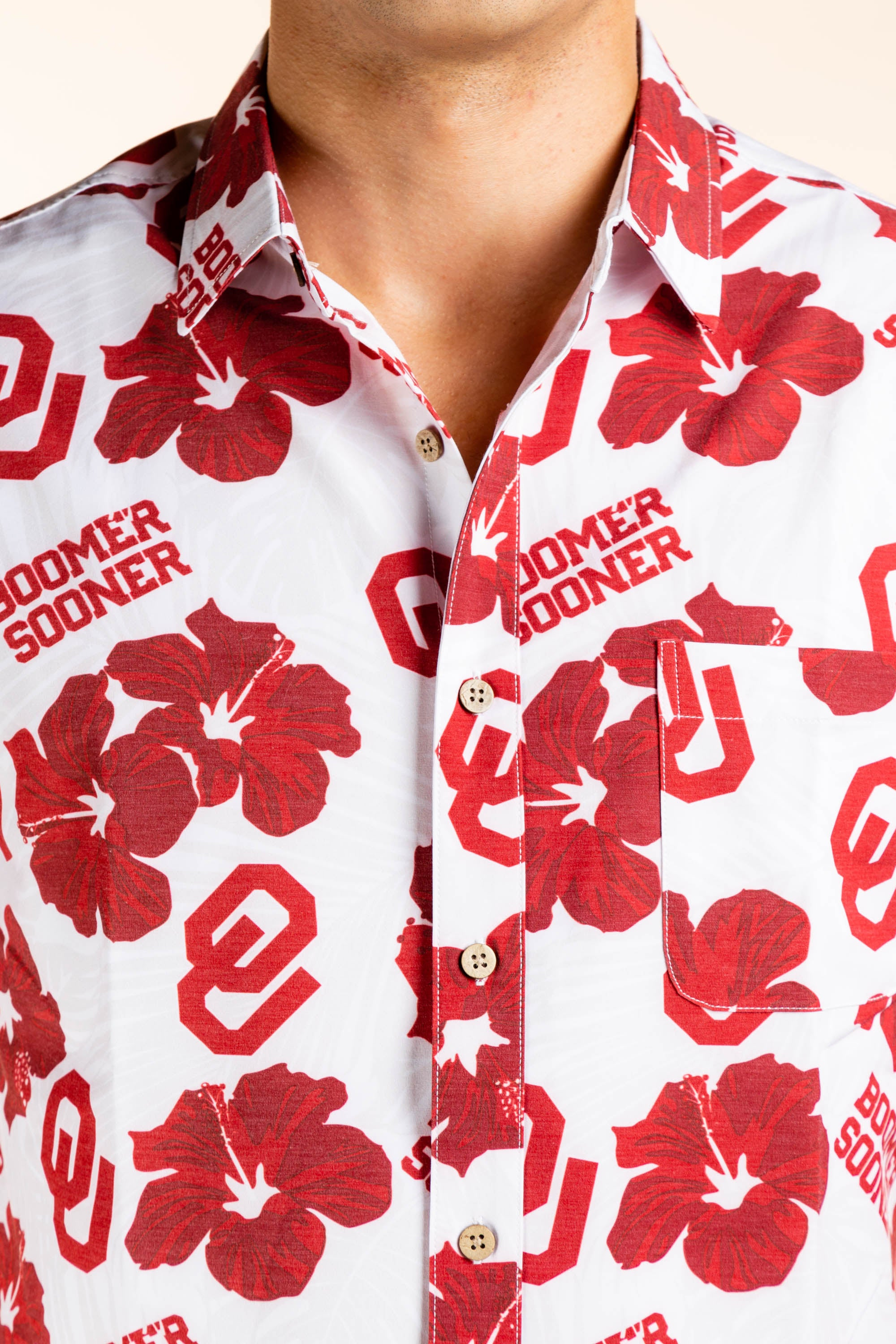 Oklahoma University Sooners Hawaiian Shirt
