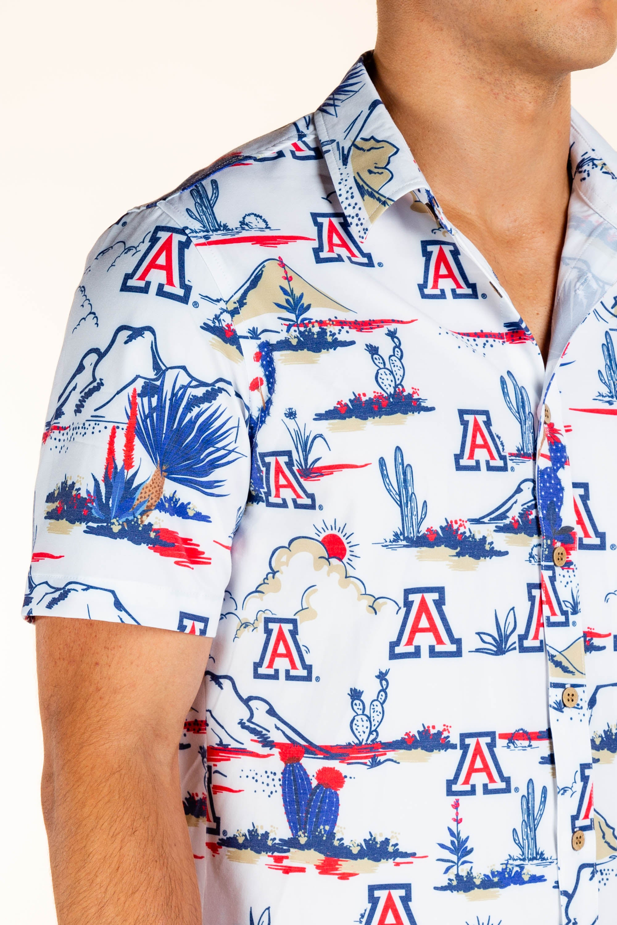 White U of A shirt