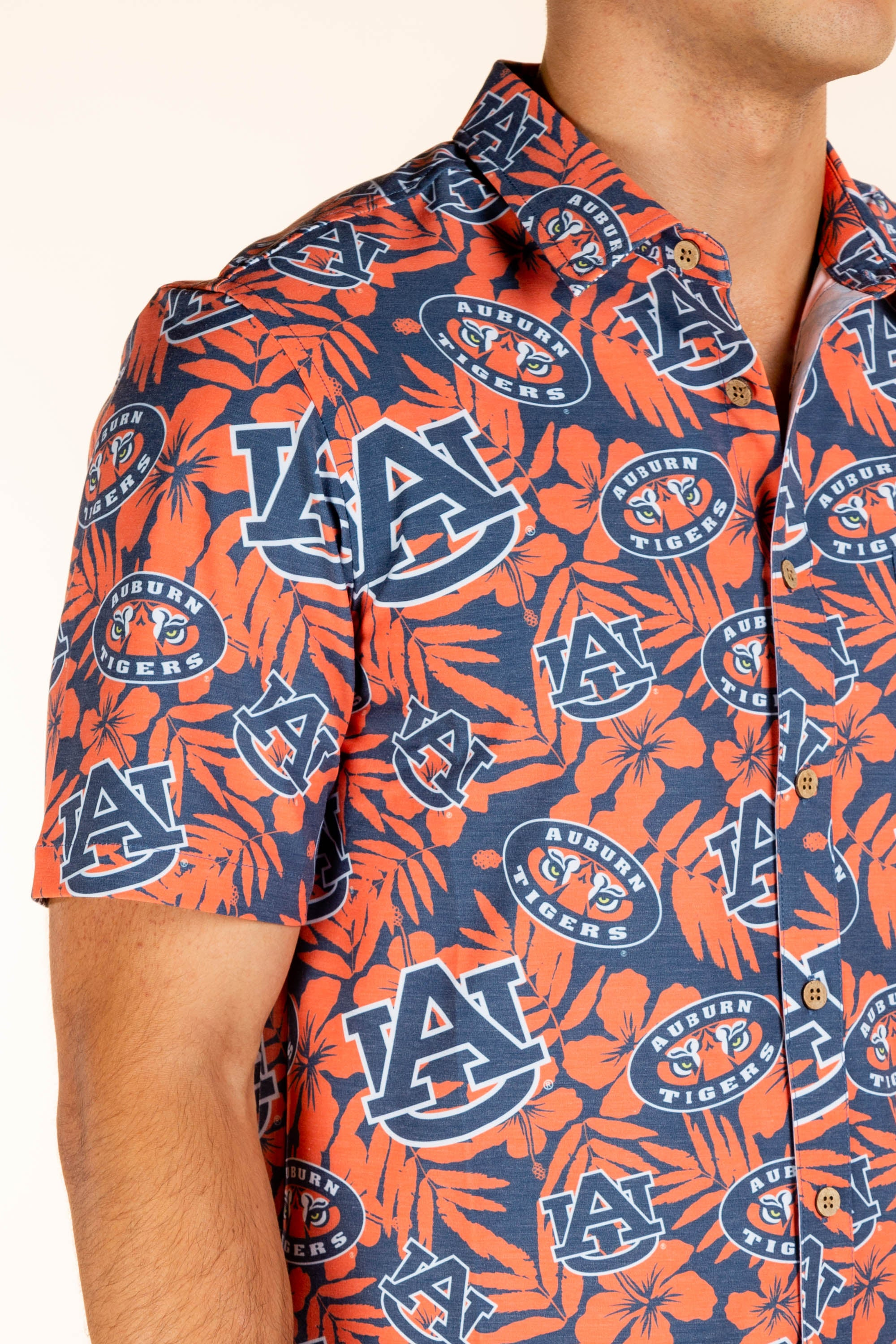 Men's Auburn Tigers Hawaiian Shirt