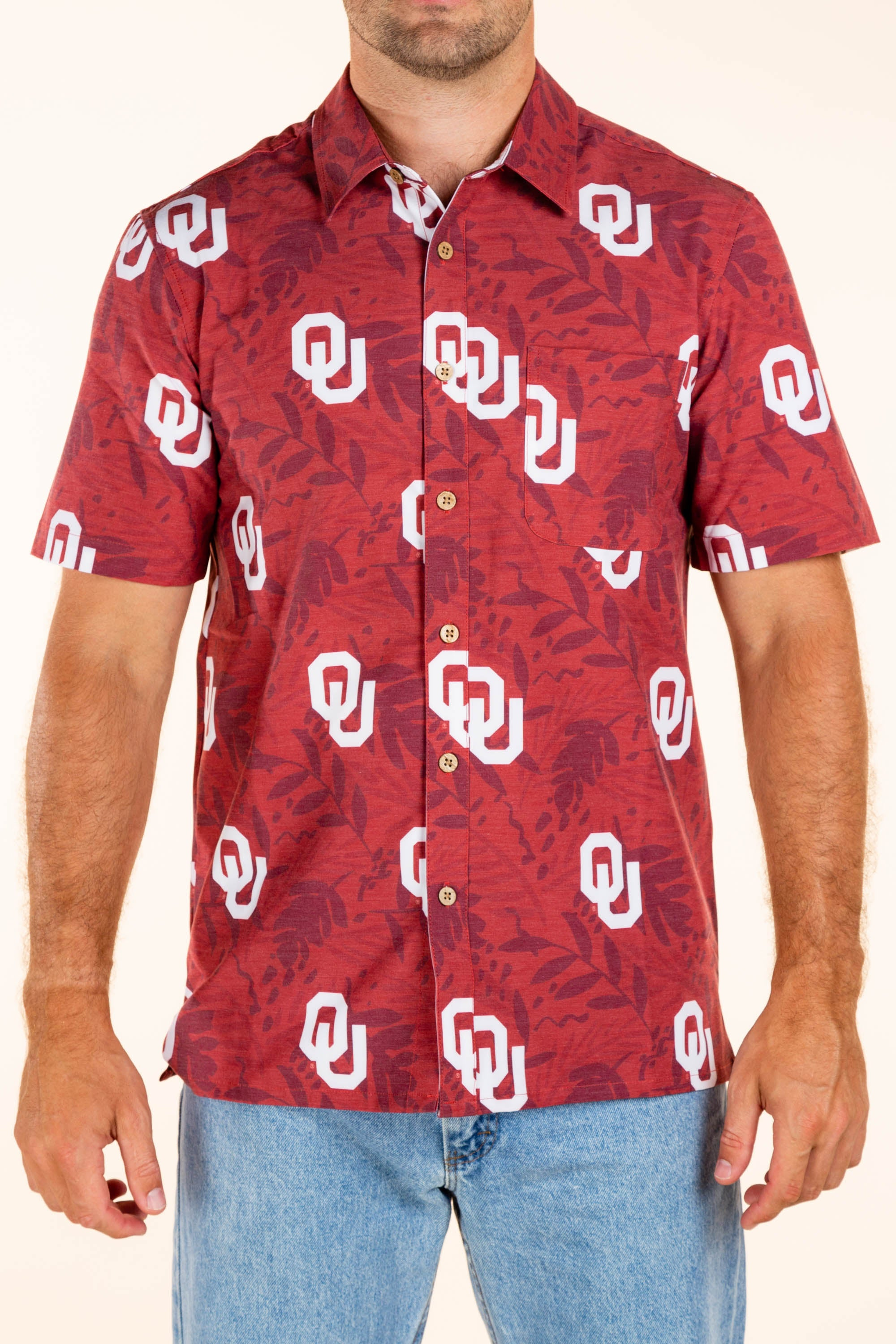 University of Oklahoma Button Up Tailgating Shirt